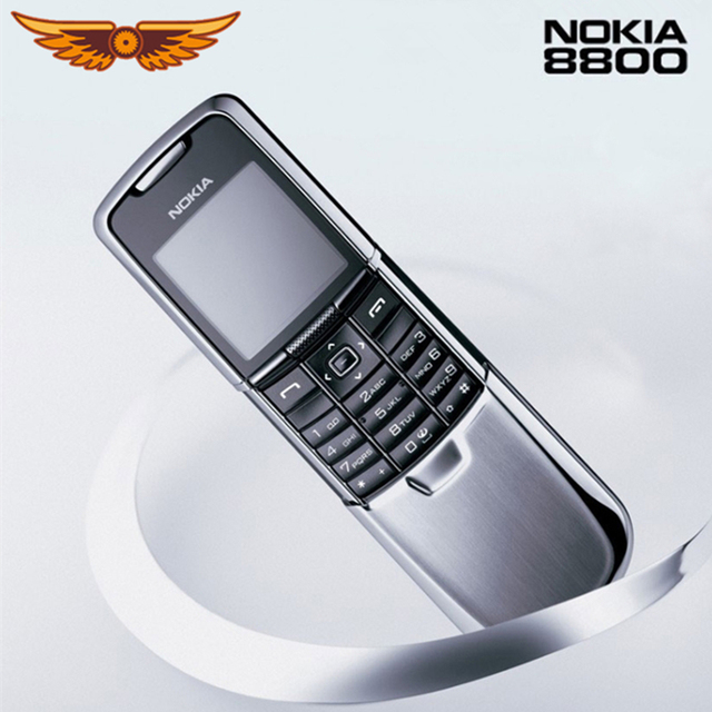 Original Nokia 8800 Mobile Phone English / Russian keyboard GSM FM Bluetooth Phone Gold Silver Black One year warranty