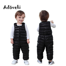 Adoveki 2019 THE NEW Winter Jumpsuit for Girls and Boys Warm Cotton Overall Baby Boy Clothes Soft Winter Toddler Coat 2-6 Years
