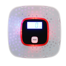 LCD Display Carbon Monoxide & Smoke Combo Detector Battery Operated CO Alarm with LED Light Flashing Sound Warning