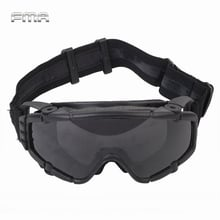 FMA Tactical SI-Ballistic Anti-fog Goggles Fan Anti-dust Outdoor Airsoft Paintball Safety Glasses Protective Eyewear with 2 Lens