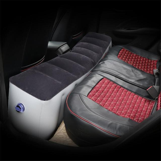 Car Mattress Inflatable Back Seat Gap Pad Printing Pattern Universal Air Bed Cushion For Travel Camping Universal Back Auto Seat Gap Cushion Air Bed Self Driving Tour Bed Camping Air Couch