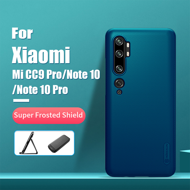 For xiaomi mi note 10 case NILLKIN Frosted PC Matte hard back cover Gift Phone Holder for xiaomi mi cc9 pro case Mi Note 10 Pro