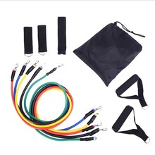 11pcs/set Pull Rope Fitness Latex Exercises Resistance Bands Set Training Workout Exercise Yoga Pull Rope Tubes Pedal Excerciser
