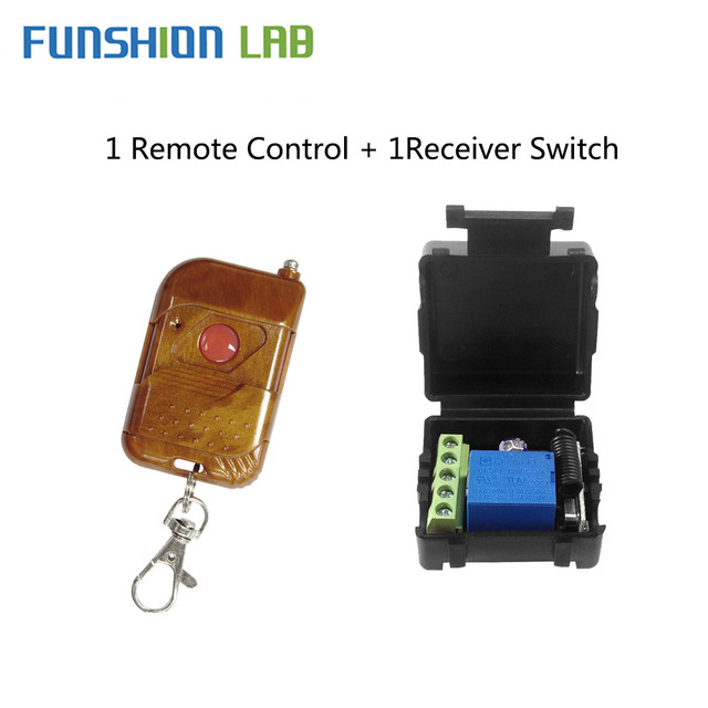 FUNSHION Remote Control 433Mhz DC12V 1CH RF Relay Receiver   433mhz Transmitter For Remote Control Switch Garage Gate Door Motor