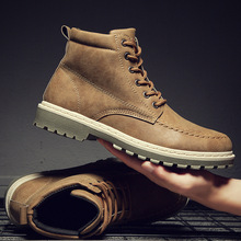 Mhysa 2019 Autumn Winter New Men Sneakers Ankle boots High Top Men Shoes Retro leather Casual Men Boots Male Casual Martin boots