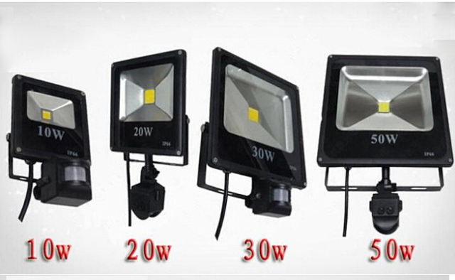 AC85-265V 10W 20W 30W 50W 70W 100W Floodlight PIR Infrated Montion Sensor Outdoor Refletor LED Exterior Flood Light Lamp Ip65