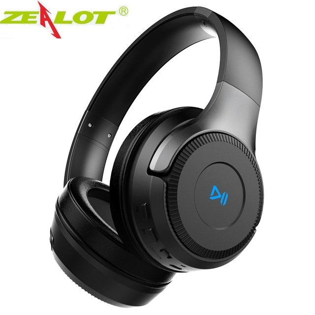 ZEALOT B26T Wireless Headphones for Computer Phone Bluetooth Earphone Stereo Bass Gaming Headset with Mic, Support TF card