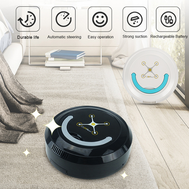 Smart Vacuum Cleaner Smart Robot Vacuum Cleaner Auto Vacuum Cleaner Rechargeable USB Automatic Cleaning Floor Edge Clean Dust