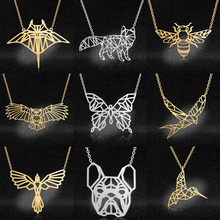 Vni and Mia 100% Stainless Steel Geometric Bee Pendant Necklace For Women Wholesale Fashion Koala Sea Gull Jewelry Dropshipping