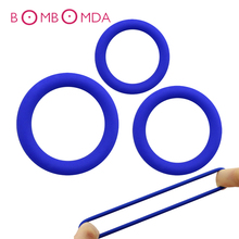 3pcs Man Penis Sleeve Silicone Cock Ring Delay Ejaculation Sex Toys For Men Penis Ring Adult Products Sex Toy For Men Masturbate