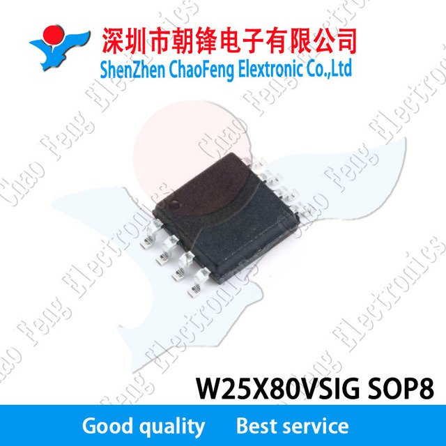 10PCS W25X80VSIG SOP8 1M-BIT, 2M-BIT, 4M-BIT AND 8M-BIT SERIAL FLASH MEMORY WITH 4KB SECTORS AND DUAL OUTPUT SPI New original