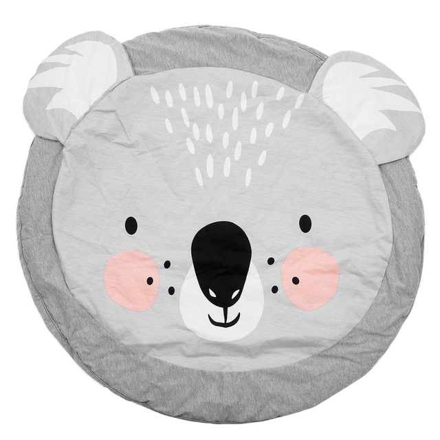 90CM Kids Play Game Mats Round Carpet Rugs Mat Cotton Crawling Blanket Floor For Kid Room Decoration INS Baby Gifts Koala