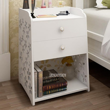 White Chic Hollow Mini Bedside Table Storage Cabinet Nightstand Small Side Table