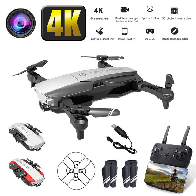 LANSENXI NVO RC Drone 4K Wide Angle WiFi FPV Camera Optical Flow Positioning Altitude Hold Gesture Control RC Quadcopter Dron