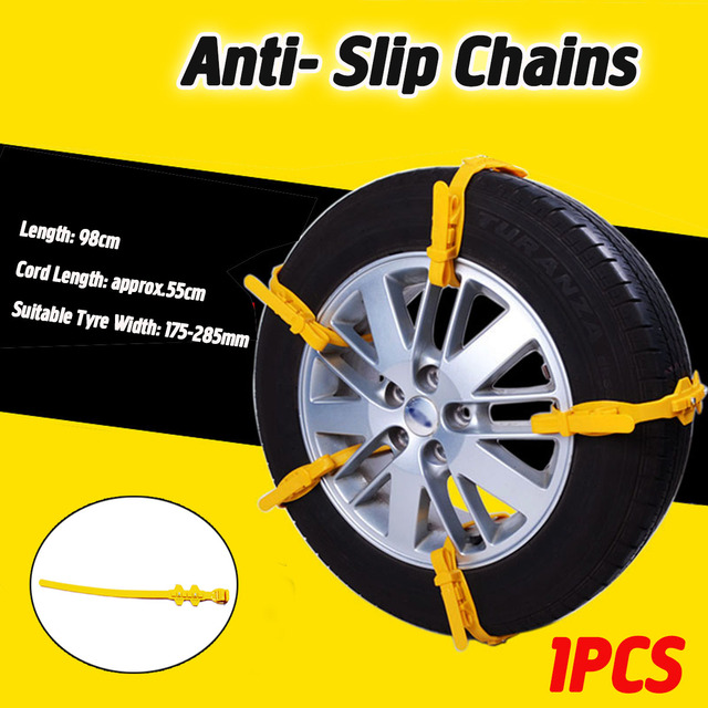 175-285mm TPU Car Tire Snow Chains Wheels Snow Chains Winter  Anti-Skid For Cars SUV Car-Styling Autocross Outdoor