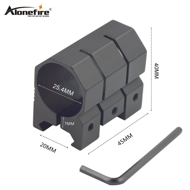 Alonefire Y27 25.4mm Ring 21mm Weaver Rail Dovetail Base Airsoft Rifle Shot gun Tactical light Laser Sight Scope Hunting Mounts