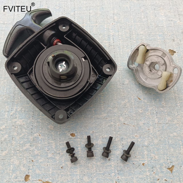 FVITEU Plastic Easy Start Pull Starter With Starter Pulley fit 32cc engine parts For 1/5 HPI Baja 5B 5T Rovan King Motor