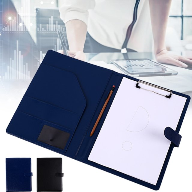 A4 File Folder PU Leather Manager Filing Office Supplies Universal Busines Display Storage Organizer Multifunctional