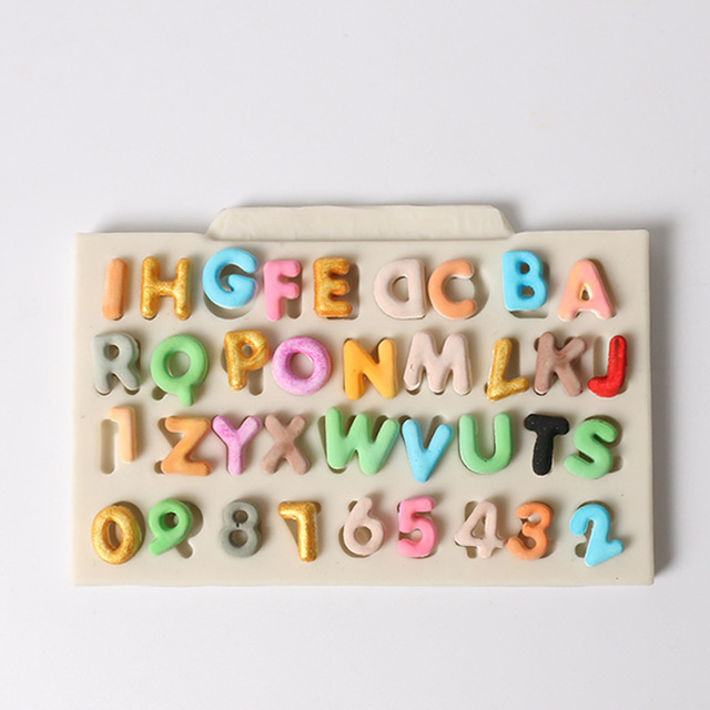 Alphabet Letter Number Silicone Bakeware Cake Decorating Tool Chocolate Confectionery Mould Baking Dish DIY Kitchen Pastry Tool