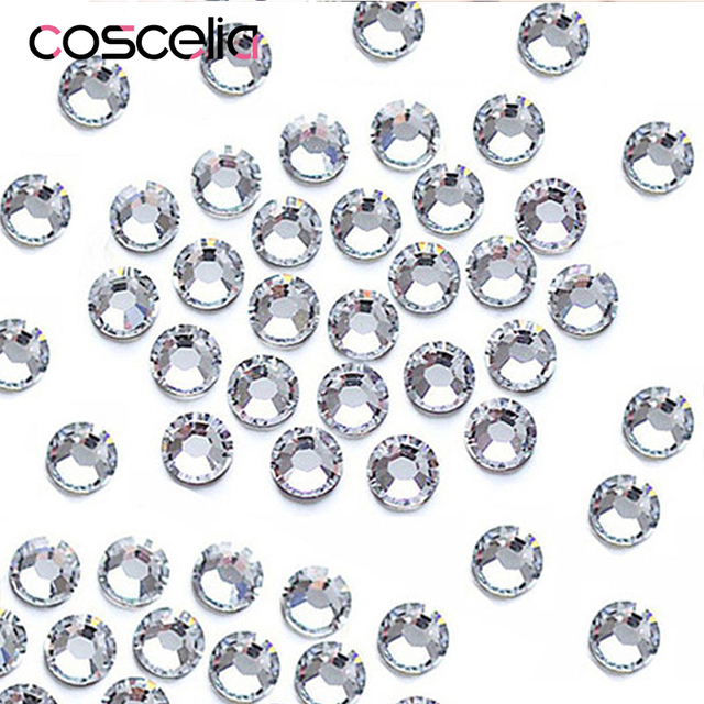 1000PCS/Pack Crystal Clear AB Rhinestones Nail Rhinestones For Nails 3D Nail Art Decorations Gems