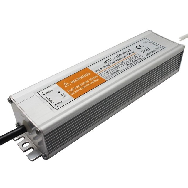 IP67 60W Waterproof Switching Power Supply 12V 24V LED driver