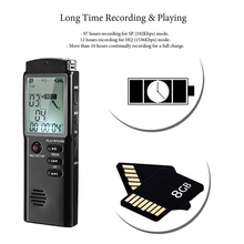 2 In 1 Mini Voice Recorder  8GB 16GB 32GB USB Large Display Screen HD Noise Reduction Super Long Recording Device MP3 Player