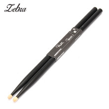 Zebra 1 Pair 5A Black Maple Wood Drum Sticks Wood Tip Drummer Instrument Drumsticks For Drum Lightweight Musical Aparts