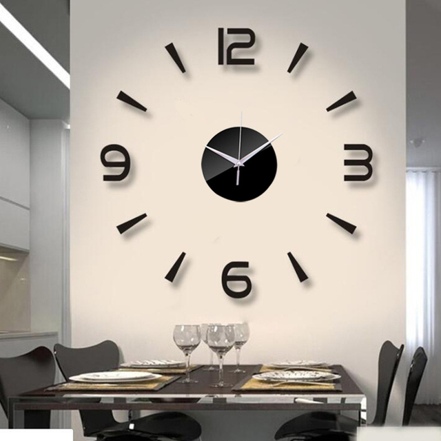 2019 New 3d Wall Clock Mirror Wall Stickers Fashion Living Room Quartz Watch Diy Home Decoration Clocks Sticker Reloj De Pared Buy Inexpensively In The Online Store With Delivery Price Comparison