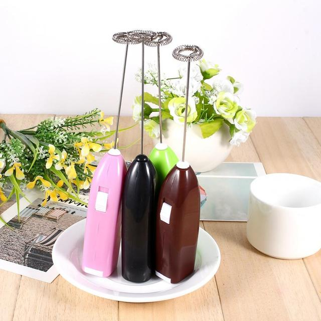 Hot Drinks Milk Coffee Frother Eggbeater Electric Mixer Handheld Battery Operated Milk Frothers with Stainless Steel Whisk