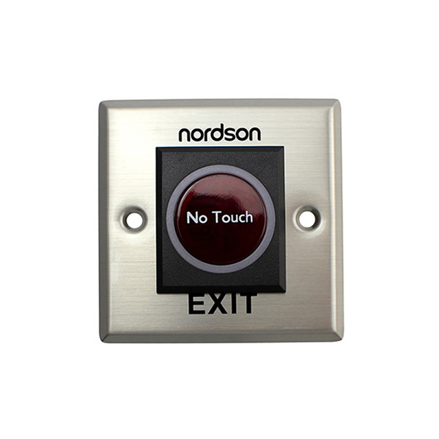 Nordson Infrared Sensor Door Release Exit Button DC12V Stainless Steel Safety Touchless Emergency for Access Control System