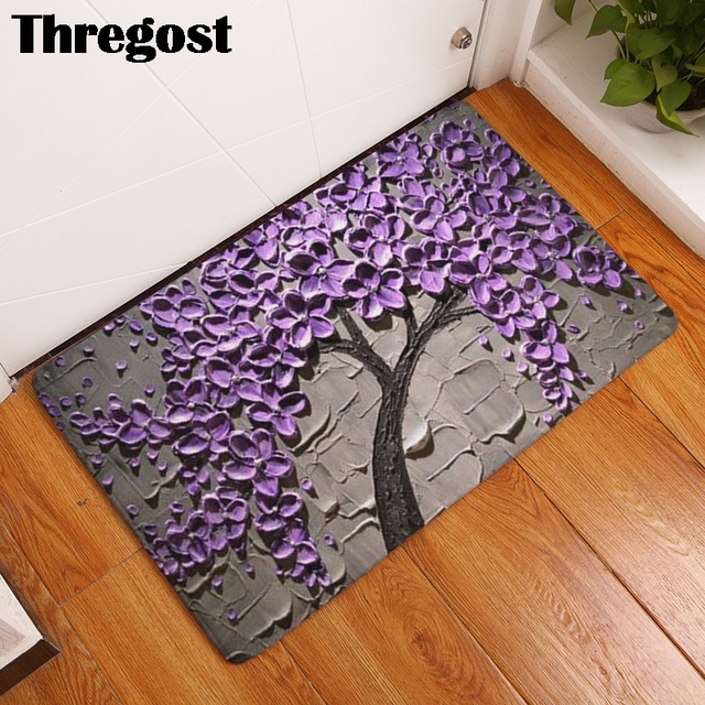 3D Printed Indoor Doormat Flannel Non Slip Bedroom Front Entrance Door Mat Rug Living Room Door Mats Home Decor Bathroom Rugs