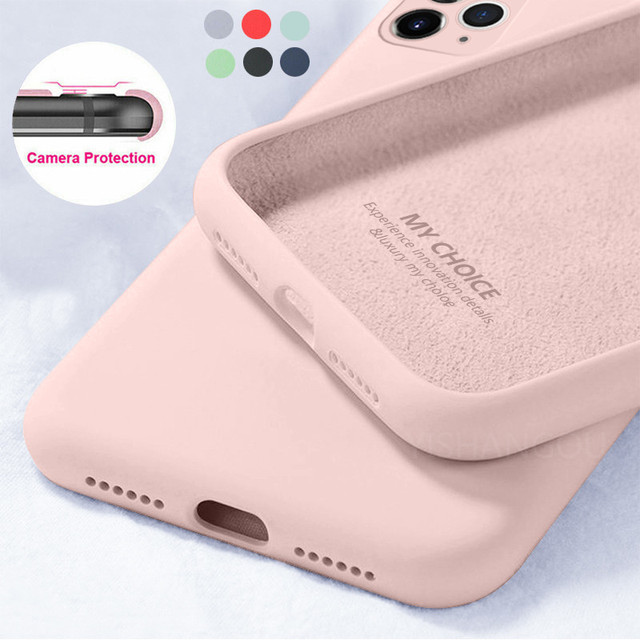 Liquid Silicone Candy Soft Cases For iPhone 11 12 Pro SE 2020 XS Max 6 S 7 8 Plus 5 5SE X XR Original Camera Protector Cover