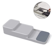 For Cutlery And Cutter Knife Block Kitchen Cutlery Drawer Organizer Tray Knife Holder Double-layer Design Kitchen Knife Holder