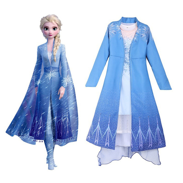 Snow Queen Elsa Dress Princess Costumes Cosplay Elsa Little Girls Dresses Disfraz Carnaval Vestido De Festa Infantil Christmas