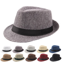 2020 New Fashion Men Fedoras Women's Fashion Jazz Hat Jazz Hat Men's Breathable Top Hat Outdoor Sun Hat Curly Brim Straw Hat