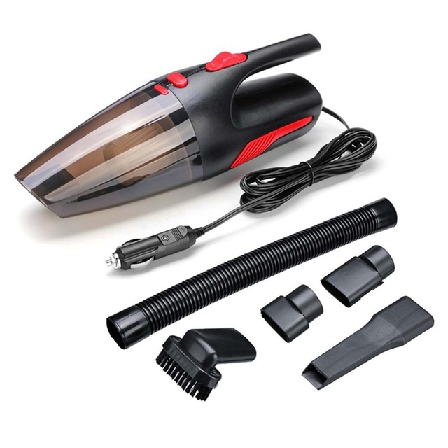 Handheld Vacuum Cleaner Portable 4 Meter Long Wet / Dry Vacuum Cleaner for Car Home 120W 12V 5000PA