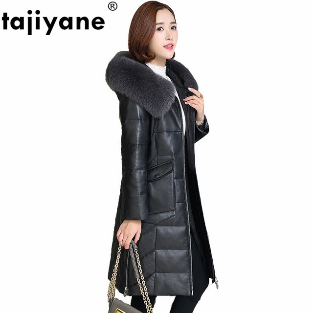 100% Sheepskin Coat Genuine Leather Jacket Women Winter Coat Women Clothes 2020 Korean Fox Fur Hooded Female Down Coat ZT681