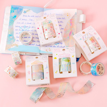 2Pcs / diy Diary Washi Tape Cute Decorative Adhesive Tape Masking Tape For Stickers Scrapbooking DIY Stationery Tape