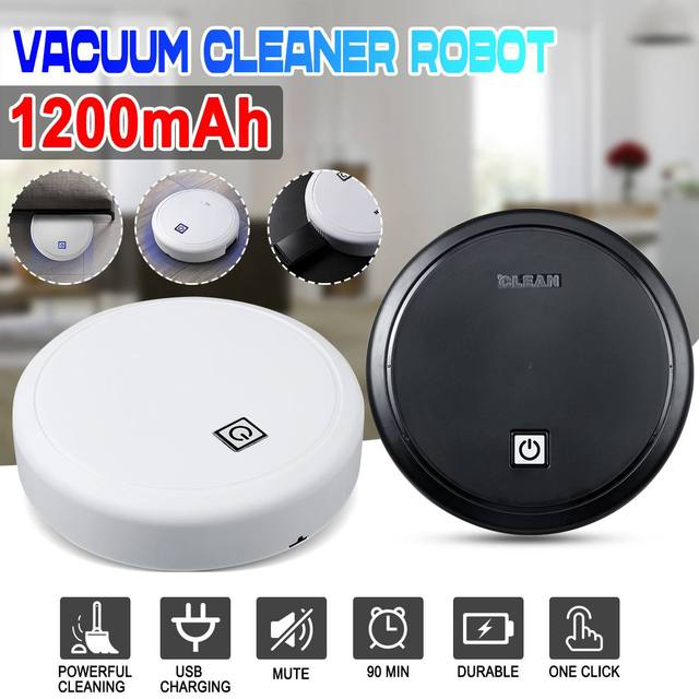 Rechargeable Auto Smart Robot Vacuum Cleaner For Home Robot Sweep-Suction Drag Machine Mini Washing Vacuum Cleaner Dry Sweeping