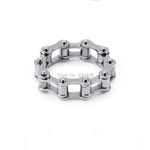 Free shipping Silver Black Gold Blue Color stainless steel rings Mens Motor Bike Chain rings Fashion Jewelry gifts wholesale 5cs