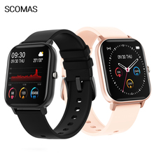 """SCOMAS P8 GTS Smart Watch Men Women 1.4""""HD Full Touch Screen Heart Rate Blood Pressure Monitor Smartwatch For iOS Android"""