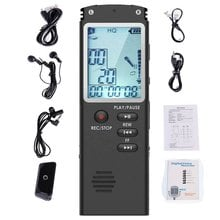 Portable Digital Voice Recorder Voice Activated Digital Sound Audio Recorder Recording Dictaphone MP3 Player