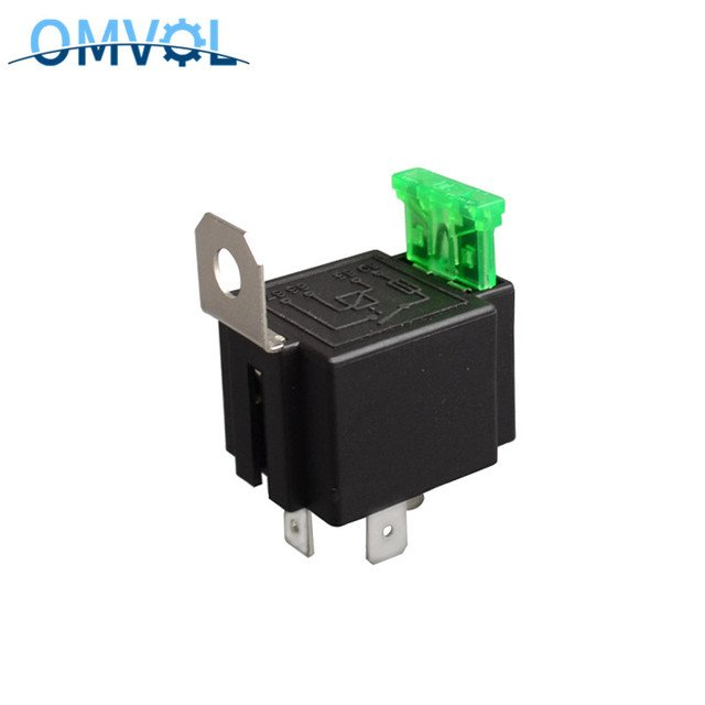 top grade quality 4 pin 30A auto relay with fuse, coil voltage 12VDC relais