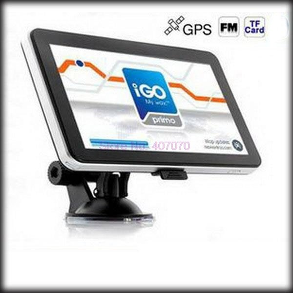 by DHL or Fedex 100 pieces 256mb 8gb Promotion 7 inch Car GPS Navigator without Bluetooth BUILT IN 4GB load  Map