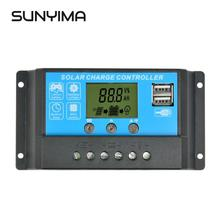 SUNYIMA 12V24V 15A LCD Solar charger Controller Dual USB Solar panels Battery Charger Regulator Switching Controller
