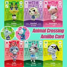 Animal Crossing New Horizons Game Amiibo Card для NS Switch 3DS Game Lobo Card Set NFC Cards Hot Villager Marshal Series 1 2 3 4