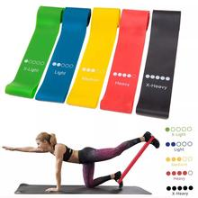 6 Level Resistance Bands Loop Exercise Home Gym Fitness Yoga Latex set of 6