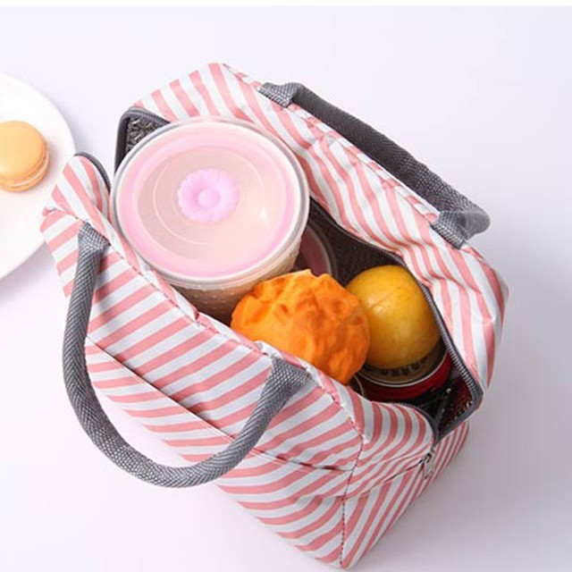 1PC Fresh Insulation Cold Bales Thermal Oxford Lunch Bag Waterproof Convenient Leisure Bag Cute Flamingo printing Tote