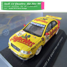 JADI 1/43 Scale Racing Car Model Toys AUDI A4 #10 Diecast Metal Car Model Toy For Collection,Gift,Kids,Decoration