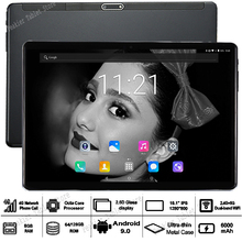 Sales 10 inch Android 9.0 RAM 8G ROM 128G TABLET 2.5D Glass Octa Core 3G 4G LTE Dual Sim Cards WiFI A-GPS IPS tablets 10 10.1